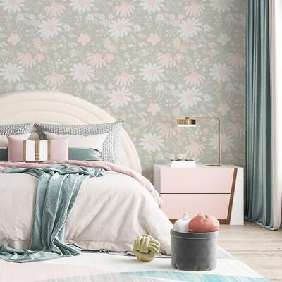 Daisy Garden Removable Wallpaper