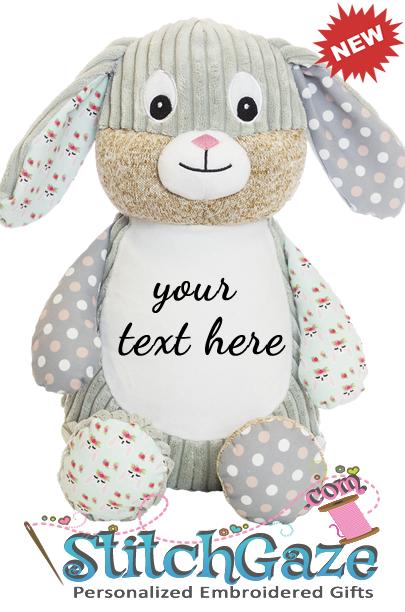 Sensory Dots & Flowers Bunny Huggable