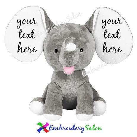 Embroidered Elephant Ears