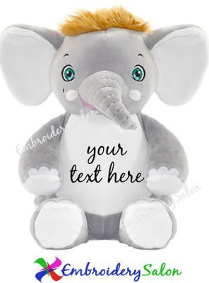 Fuzzy Head Elephant Huggable