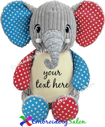 Harlequin Elephant Huggable