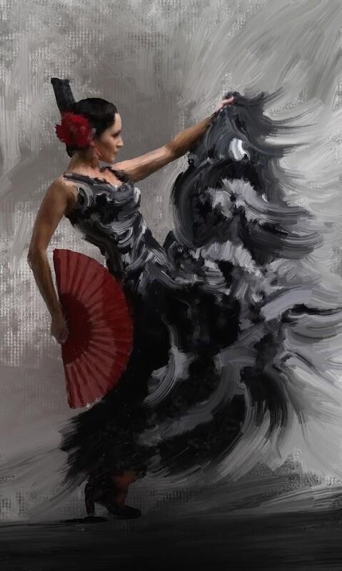 Flamenco Dancer Painting. 55