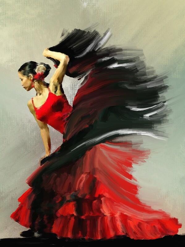 Flamenco Dancer Painting. 56