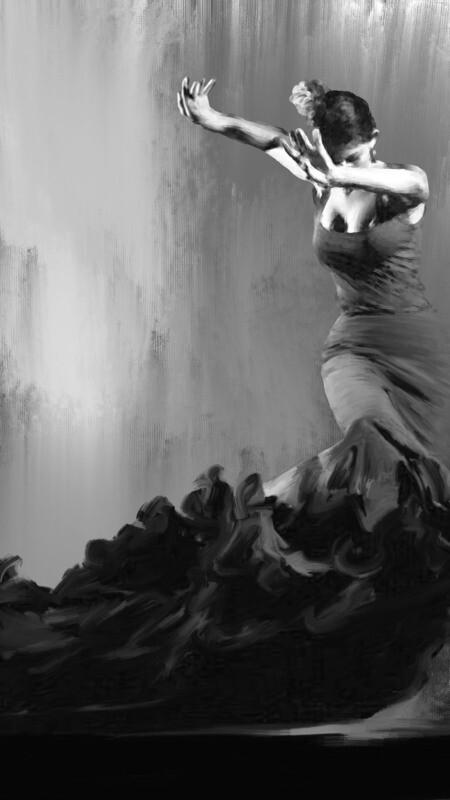Flamenco Dancer Painting. 57