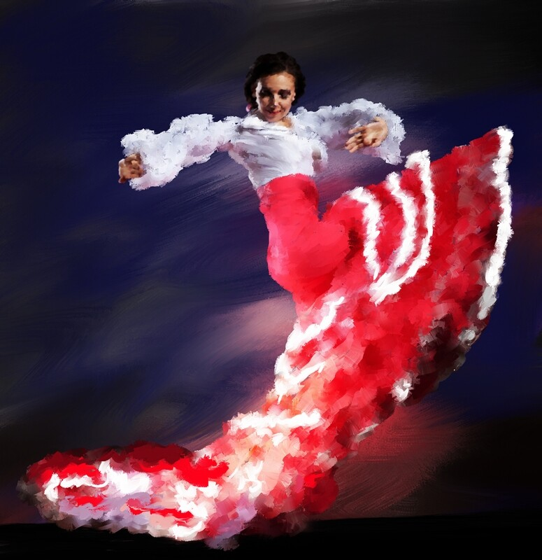 Flamenco Dancer Painting. 106