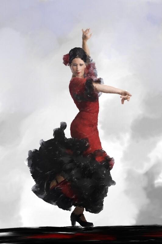 Flamenco Dancer Painting. 104