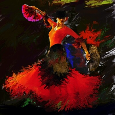 Flamenco Dancer Painting. 115