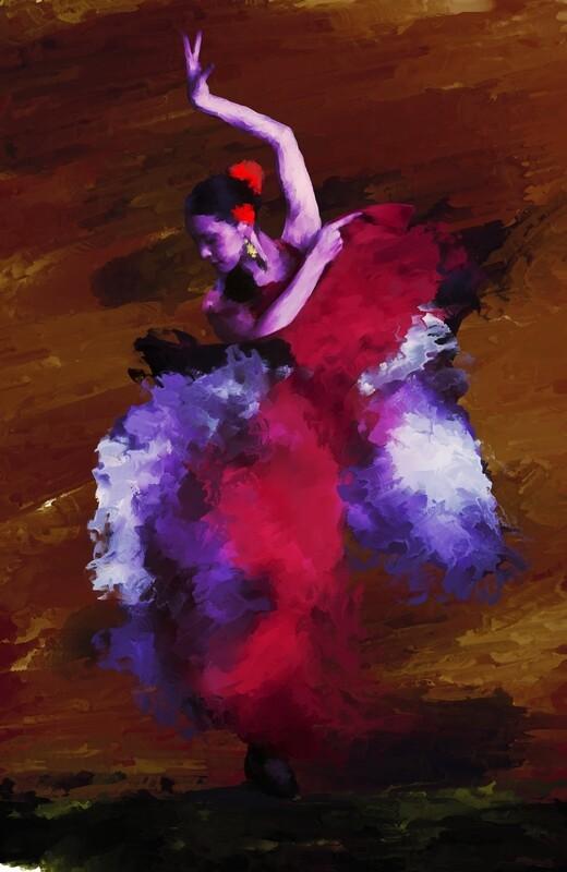 Flamenco Dancer Painting. 114