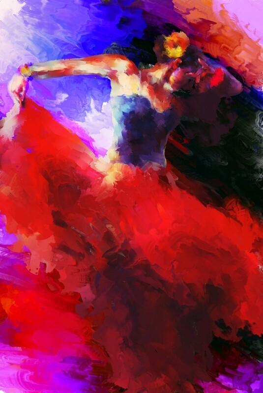 Flamenco Dancer Painting. 117