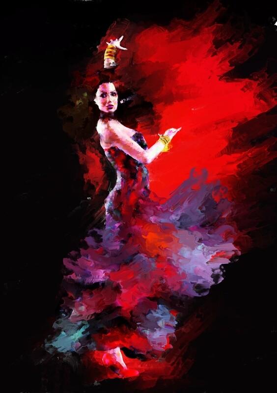 Flamenco Dancer Painting. 118