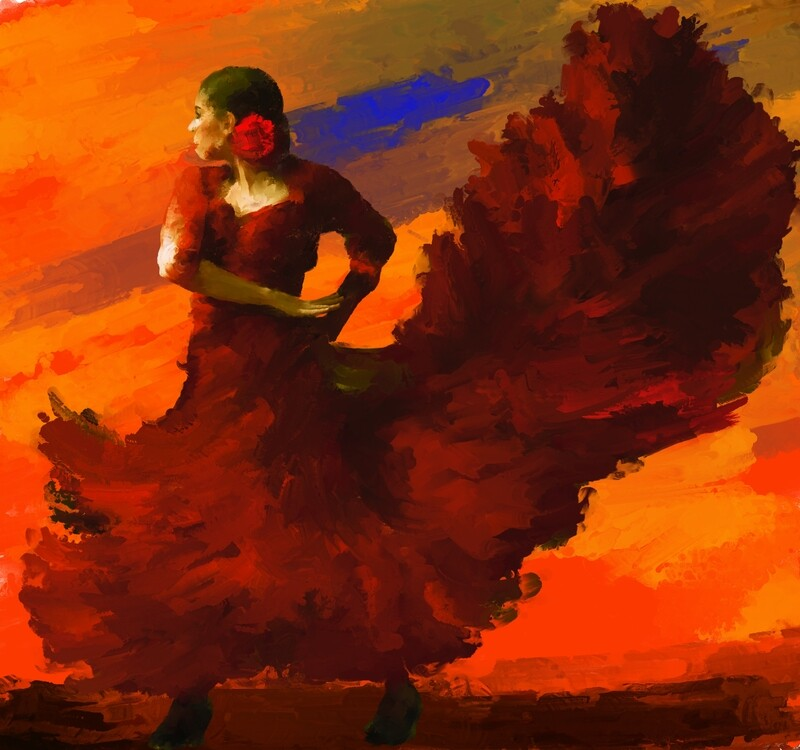 Flamenco Dancer Painting. 119