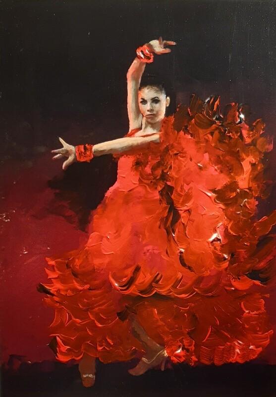 Flamenco Dancer Painting. 126