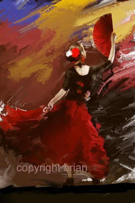 Flamenco Dancer Painting. 111