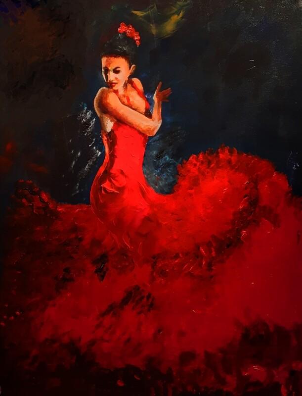 Flamenco Dancer Painting. 127