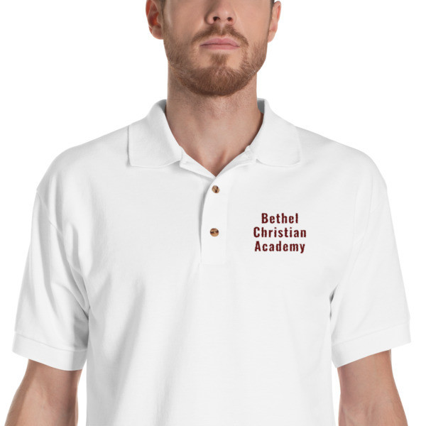 Embroidered Polo Shirt with text
