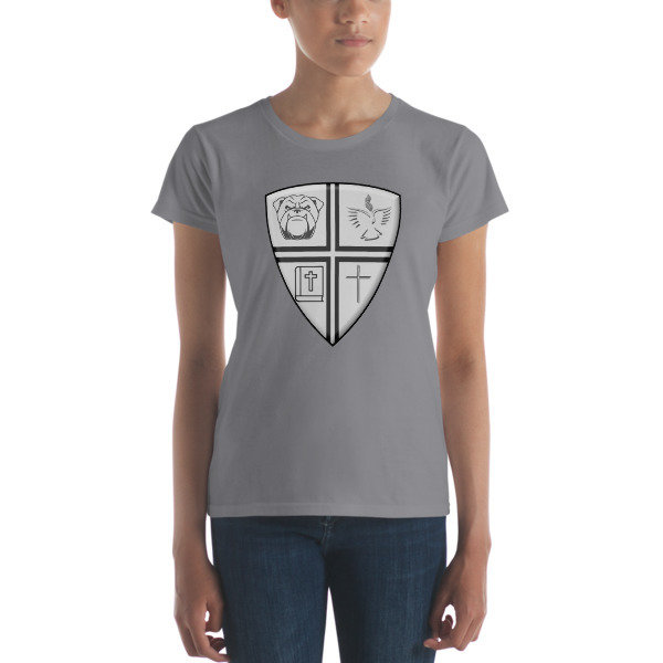 Women's short sleeve t-shirt w/Logo in Middle
