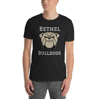 Short-Sleeve Unisex T-Shirt w/ Bulldog face