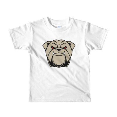 Short sleeve kids t-shirt w/ Bulldog