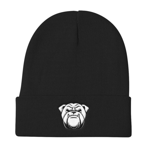 Knit Beanie w/bulldog