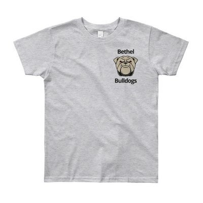 Youth Short Sleeve T-Shirt w/bulldog face
