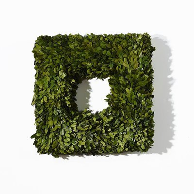 Boxwood Wreath Square - Small