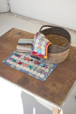 Kantha Round Patch Placemat