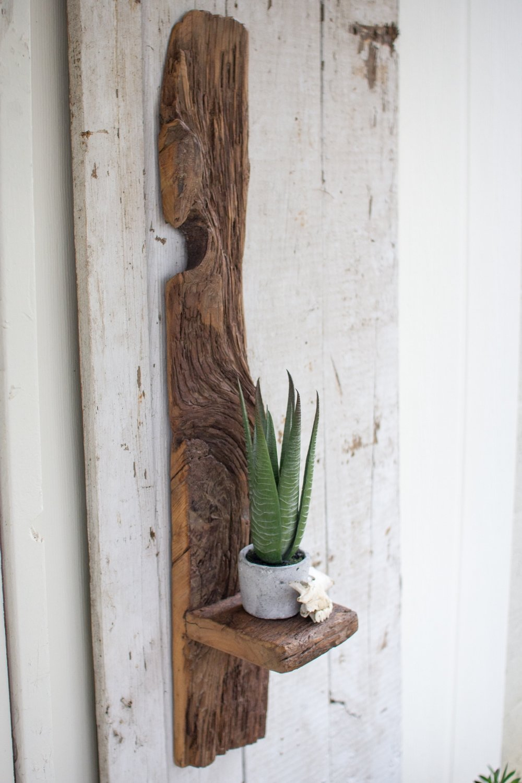 Tall Recycled Wood Shelf