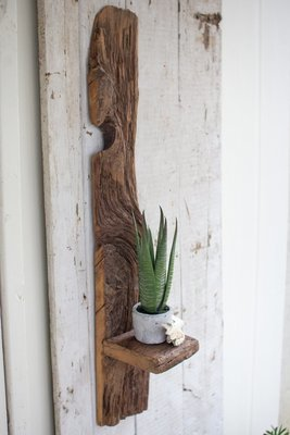 Tall Recycled Wood Shelf