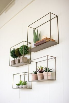 Square Metal Shelves