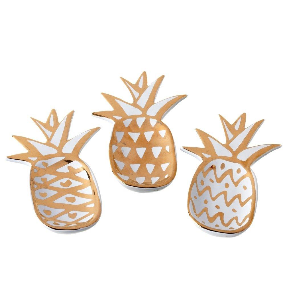 Gold Pineapple Dish Set