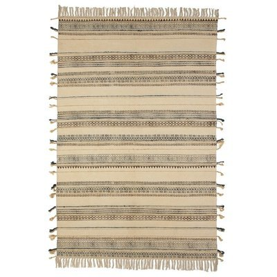 Block Print Pattern Thread Stripe Rug