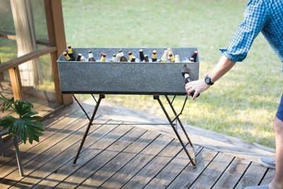 Galvanized Drink Tub with Bottle Opener