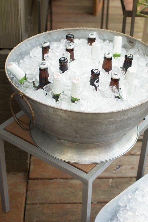 Large Zinc Party Bowl