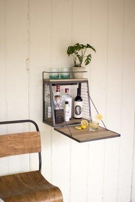 Wall Bar with Fold Down Shelf