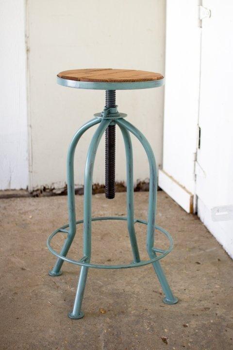 Adjustable Bar Stool - Blue