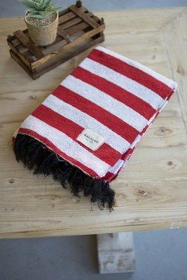 Red & White Cotton Throw Blanket