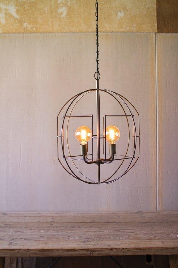 Round Iron Bar Pendant Light