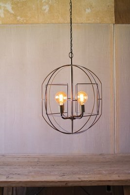 Round Iron Bar Pendant Light