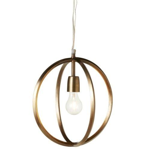 Gold Circle Pendant Light