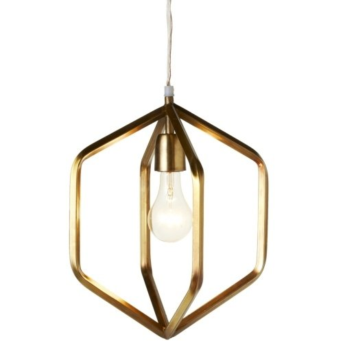 Gold Hexagon Pendant Light