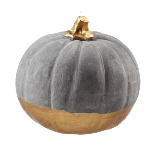Gold Dipped Pumpkin - Medium