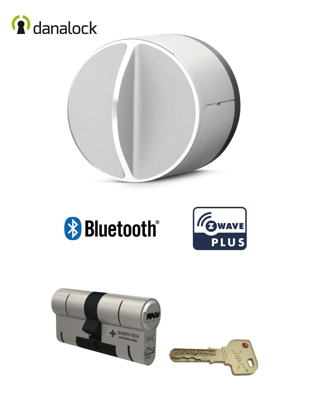 Salto Danalock V3 Bluetooth® & Z-Wave® + Cylindre universel M&C Haute Sécurité de fabrication Suisse