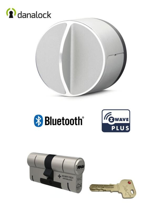 Danalock V3 Bluetooth® & Z-Wave® + Cylindre universel M&C Haute Sécurité de fabrication Suisse