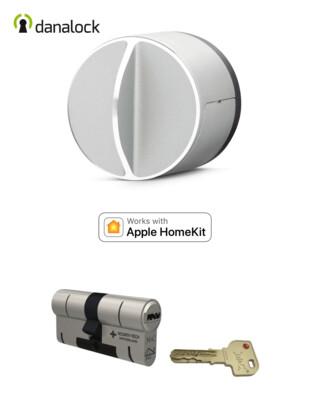 Danalock V3 HomeKit®  + Cylindre universel M&C Haute Sécurité de fabrication Suisse