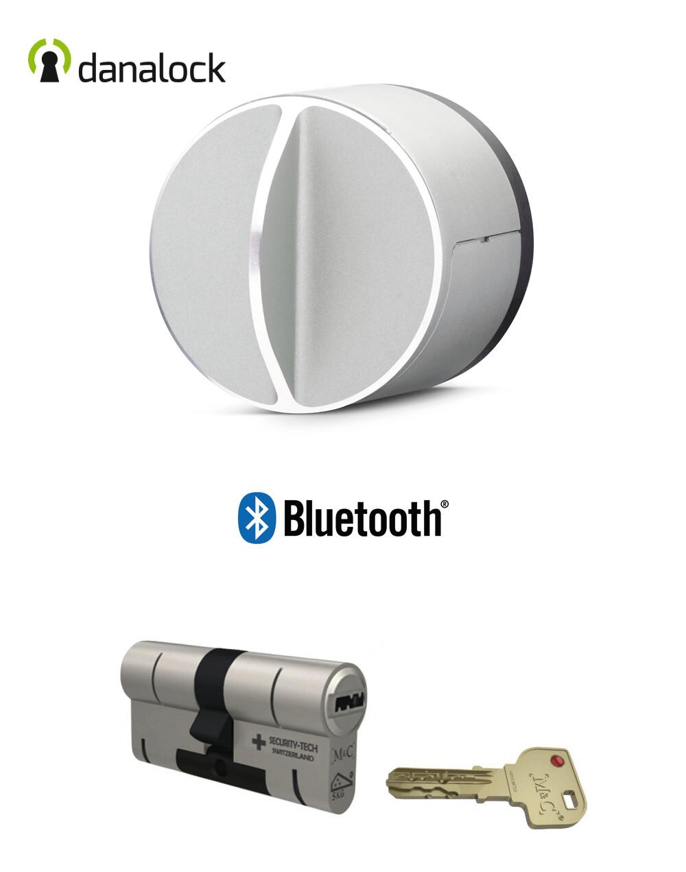 Salto Danalock V3 Bluetooth® + Cylindre universel M&C Haute Sécurité de fabrication Suisse