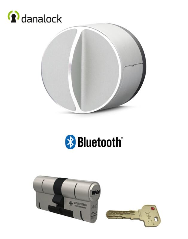 Danalock V3 Bluetooth® + Cylindre universel M&C Haute Sécurité de fabrication Suisse