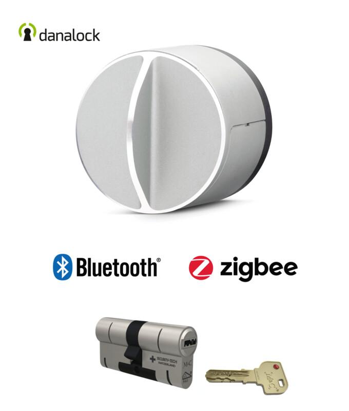 Danalock V3 Bluetooth® & Zigbee® + Cylindre universel M&C Haute Sécurité de fabrication Suisse