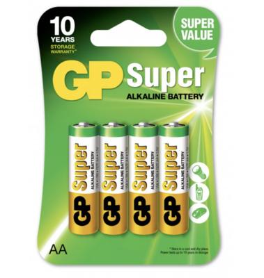 GP Super Alcaline AA-pile, 15A/LR6, 4-p / pour DANAPAD