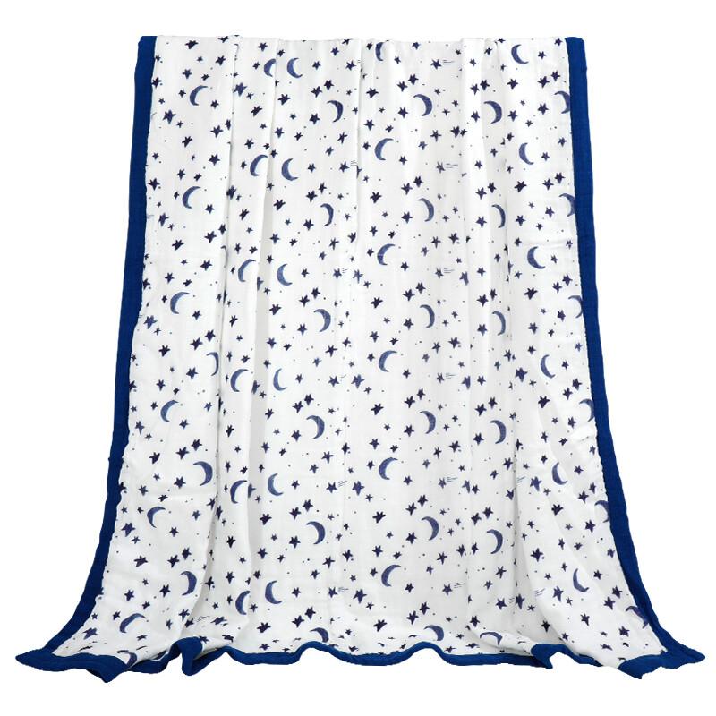 """Муслиновое одеяло """"Звездное небо"""" (бамбук/хлопок, 6 слоев, 120х120см)"""