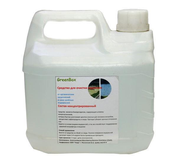 GreenBox 5L против сине-зеленых водорослей на 50000 литров